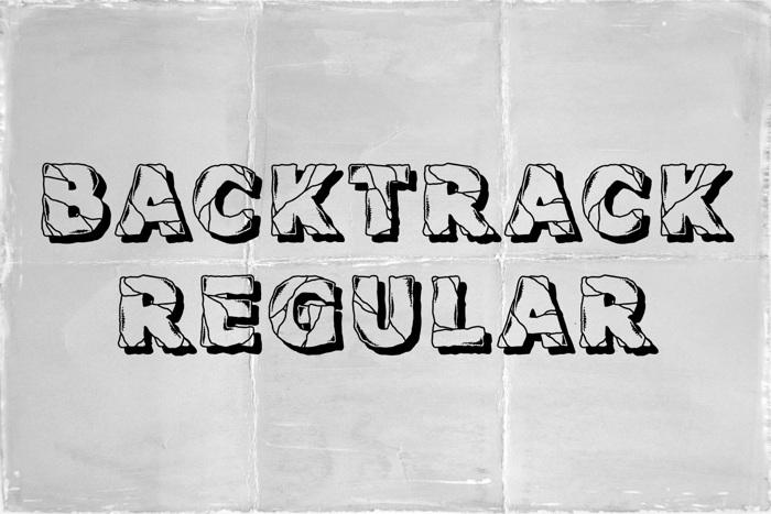 Backtrack Font poster