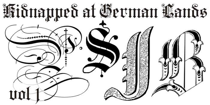 Kidnapped at German Lands Font poster