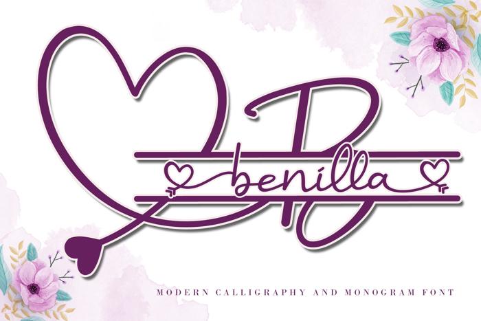 Benilla Font poster