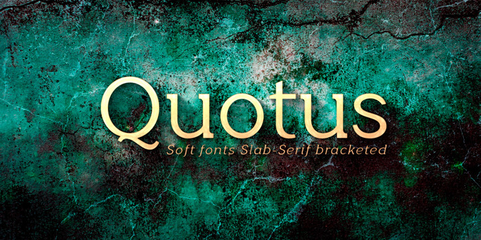 Quotus Font poster