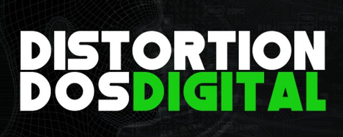 Distortion Dos Digital Font poster