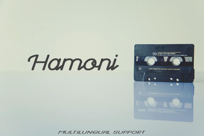 Hamoni Font poster