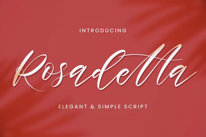 Rosadetta Font poster