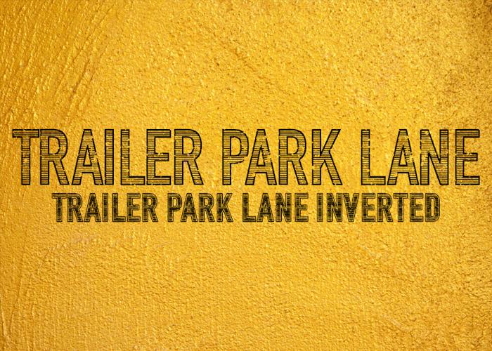 Trailer Park Lane Font poster