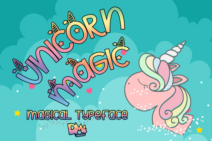 Unicorn Magic Font poster