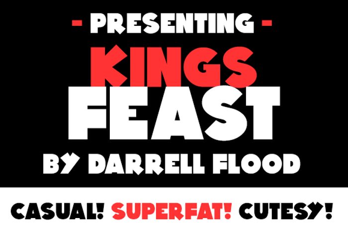 Kings Feast Font poster