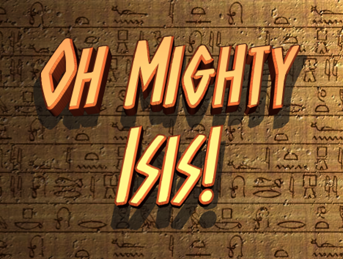 Oh Mighty Isis Font poster