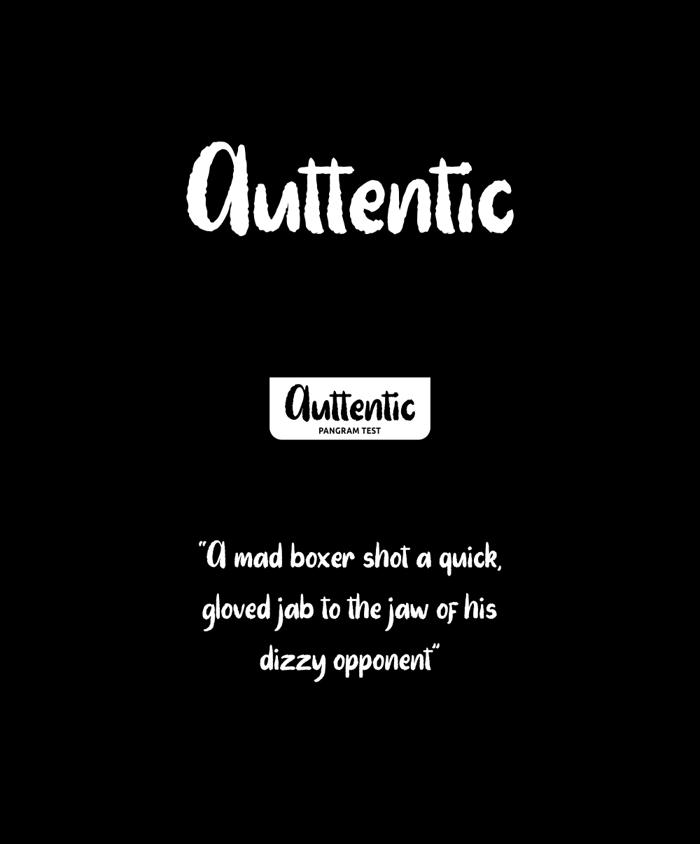 Auttentic Font