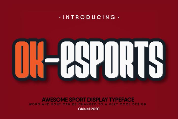 Ok-Esport Font poster