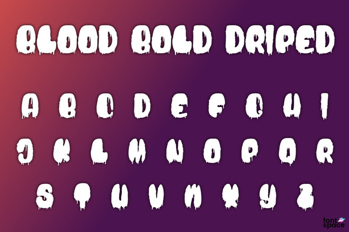 Blood Bold Driped Font poster
