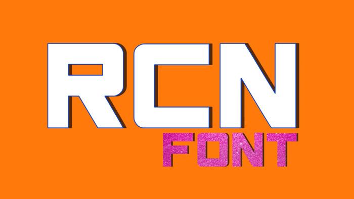 RCN Font poster