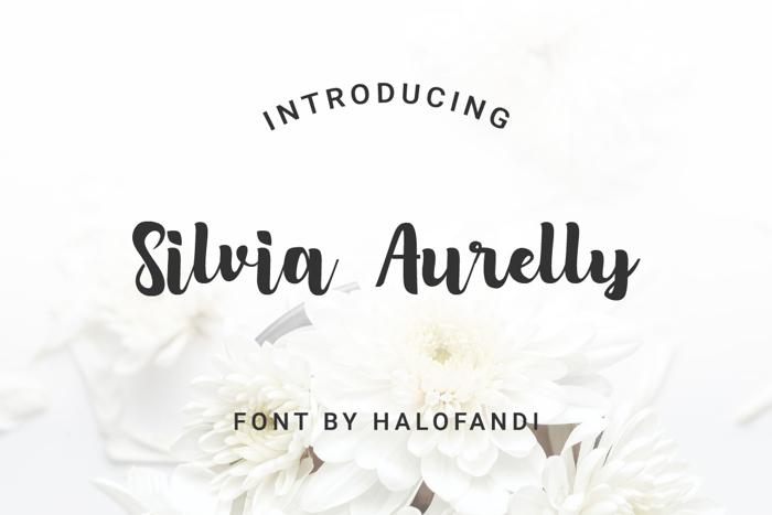 Silvia Aurelly Font poster