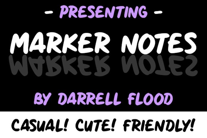 Marker Notes Font poster