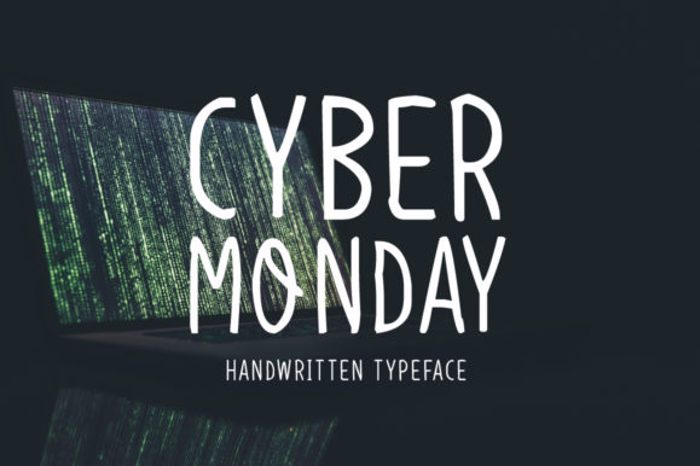 Cyber Monday Font poster