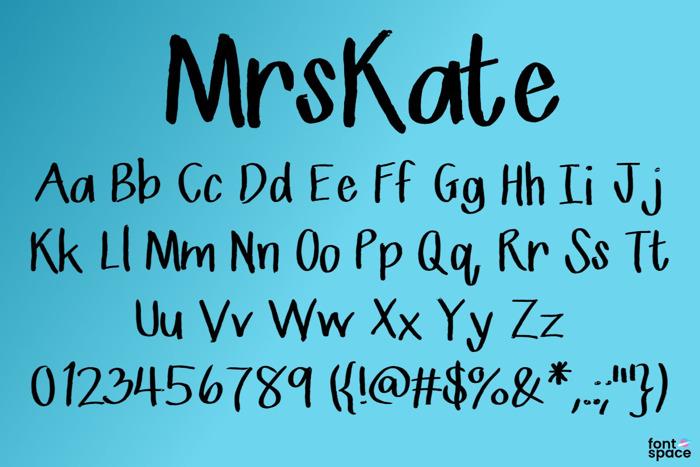 Mrs Kate Font poster