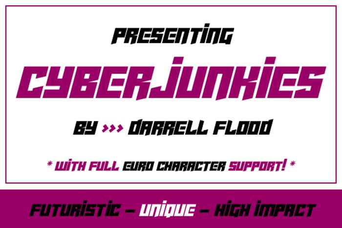 Cyberjunkies Font poster