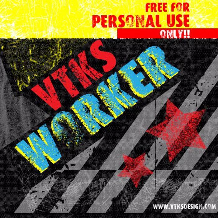 VTKS WORKER Font poster