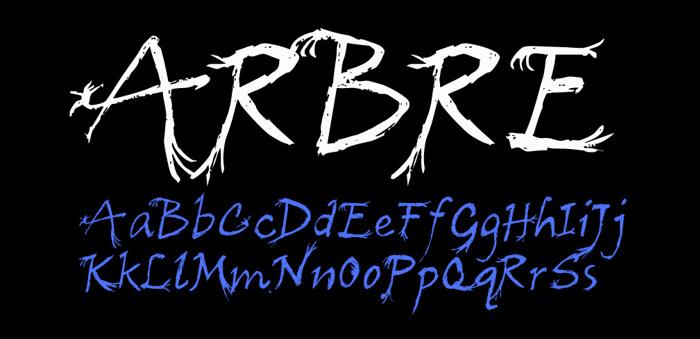 Arbre Font poster