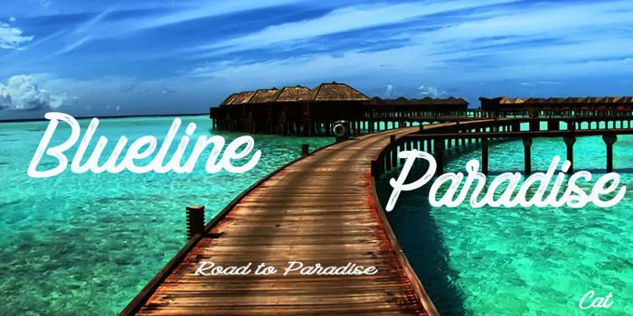 Blueline Paradise Font poster
