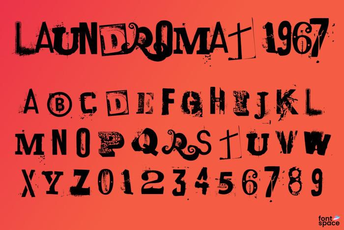 laundromat 1967 Font poster