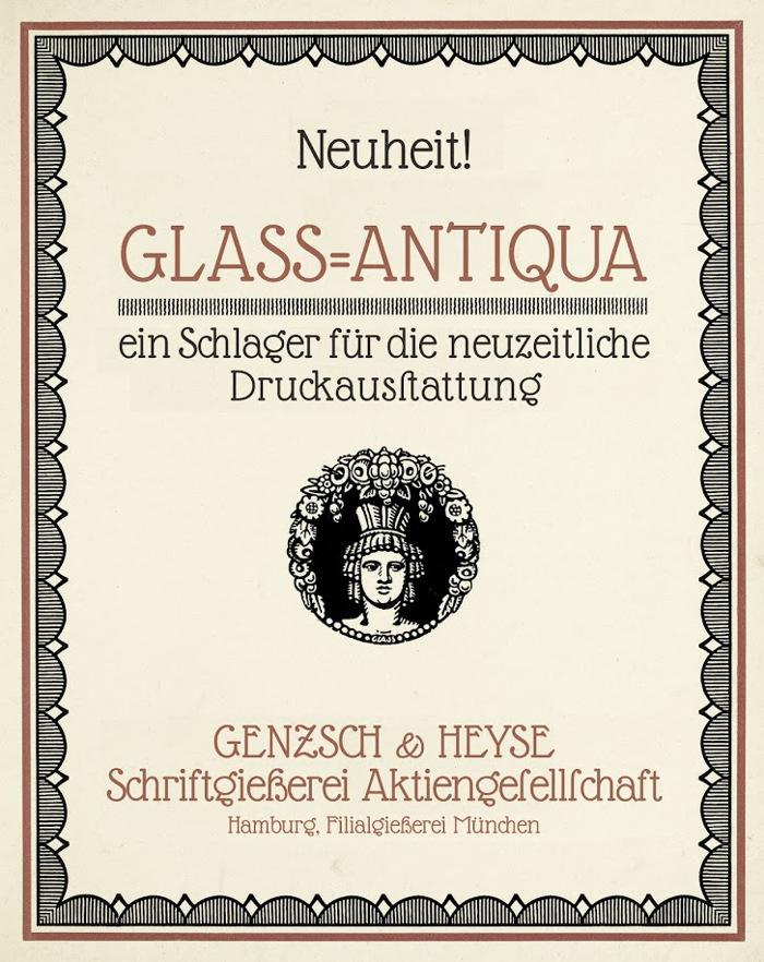 Glass Antiqua Font poster