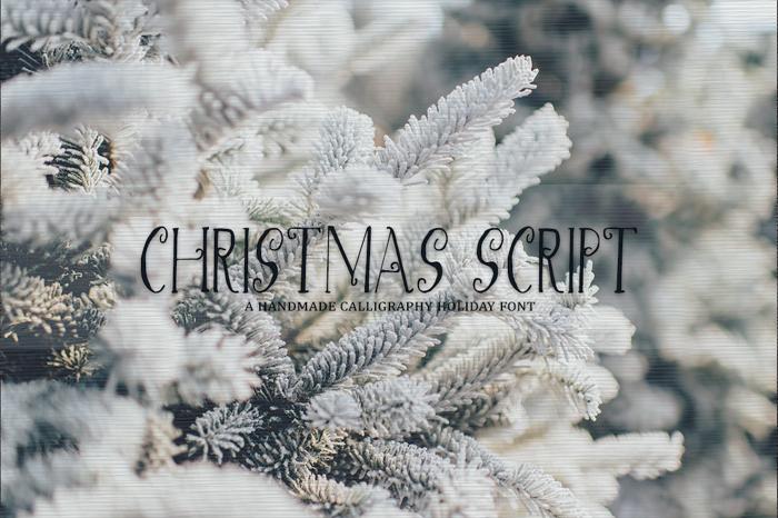 Christmas Script Font poster
