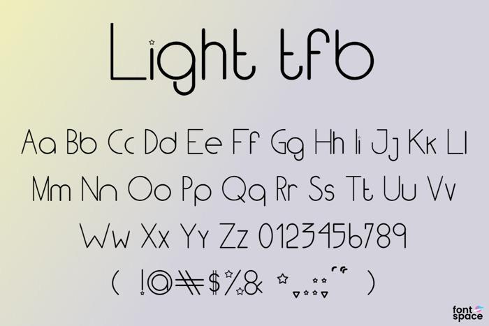 Light TFB Font poster