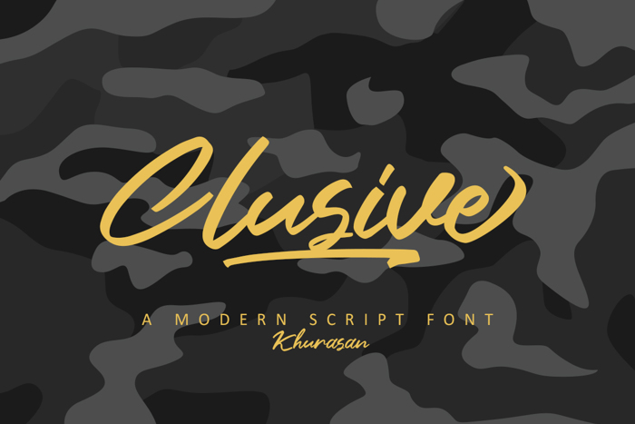 Clusive Font poster