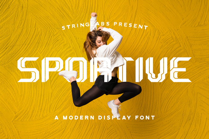 Sportive Font poster