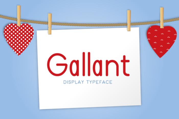 Gallant Font poster