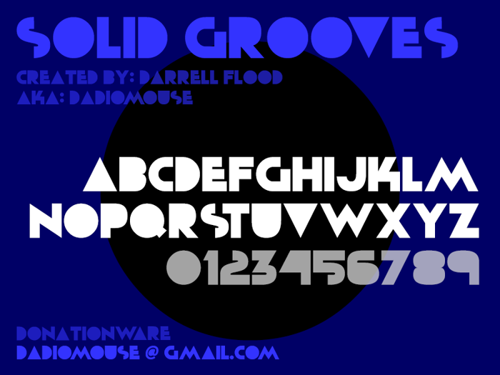 Solid Grooves Font poster