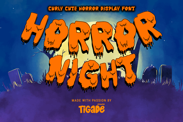 Horror Night Drip Font poster