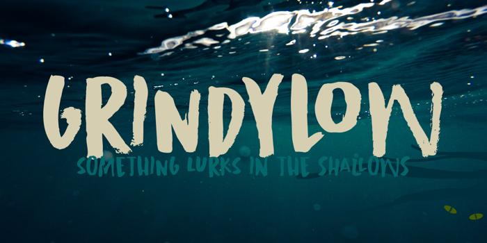 Grindylow Font poster