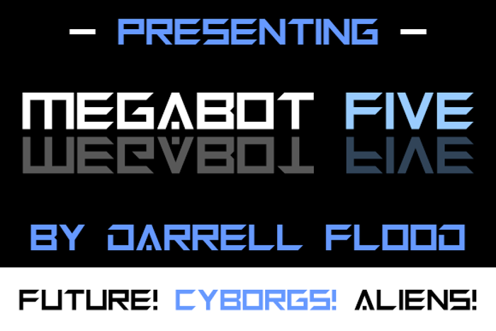 Megabot Five Font poster