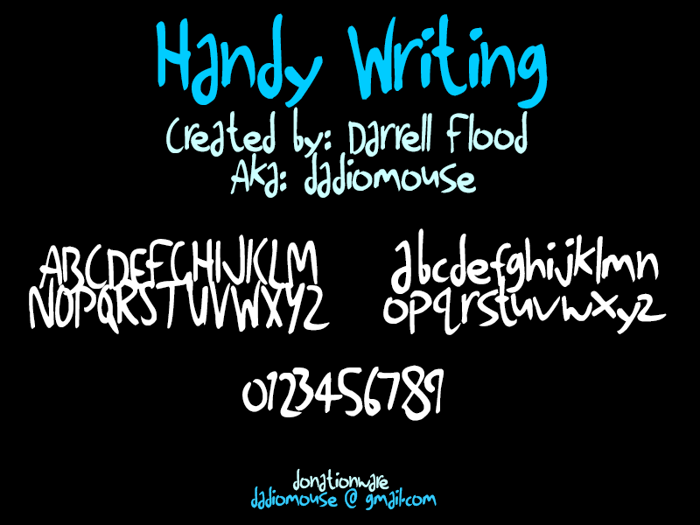 Handy Writing Font poster