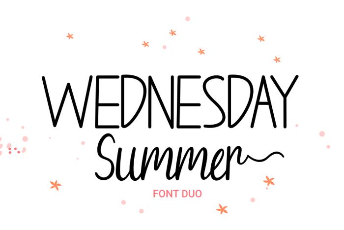 Wednesday Summer Script Font poster