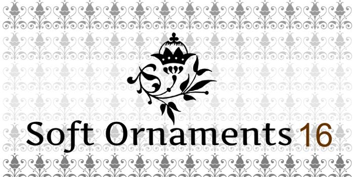 Soft Ornaments Sixteen Font poster