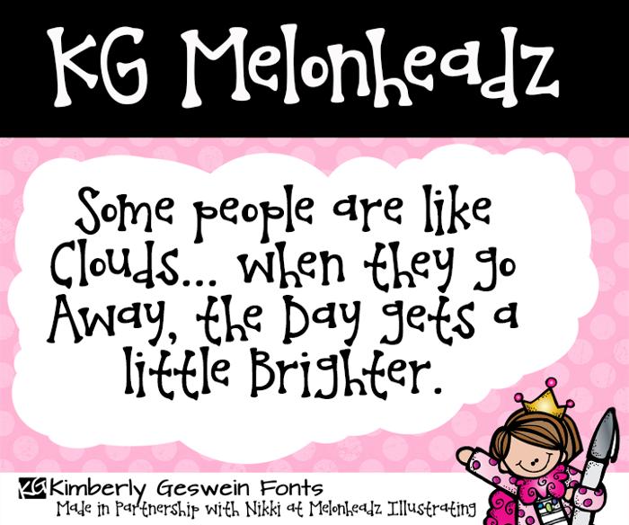 KG Melonheadz Font poster