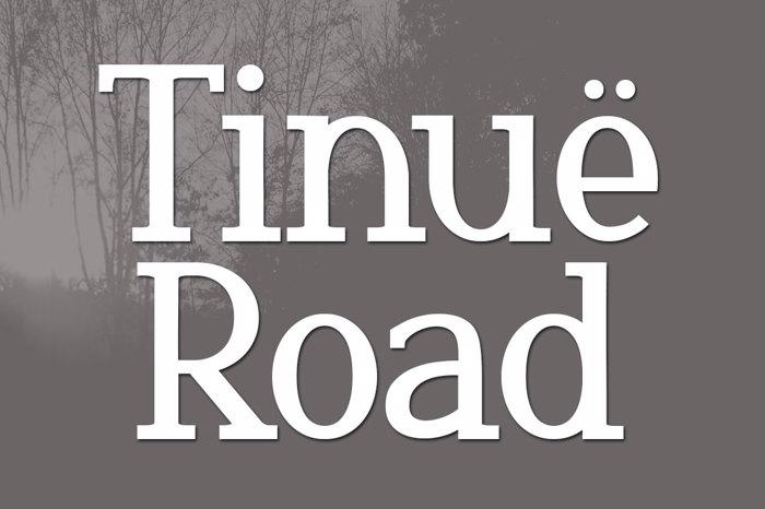 Tinuë Road Font poster