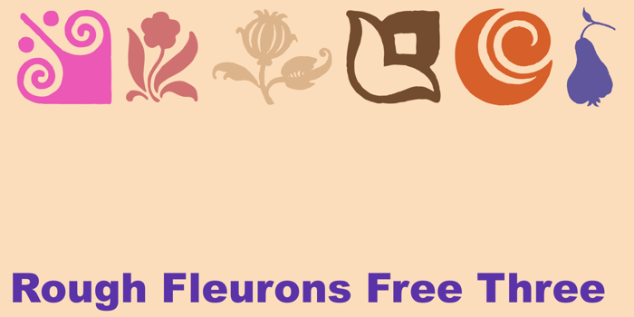 Rough Fleurons Free Three Font poster