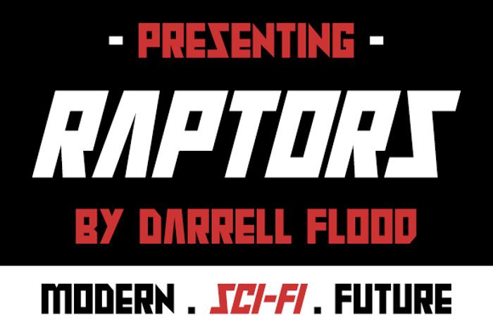Raptors Font poster