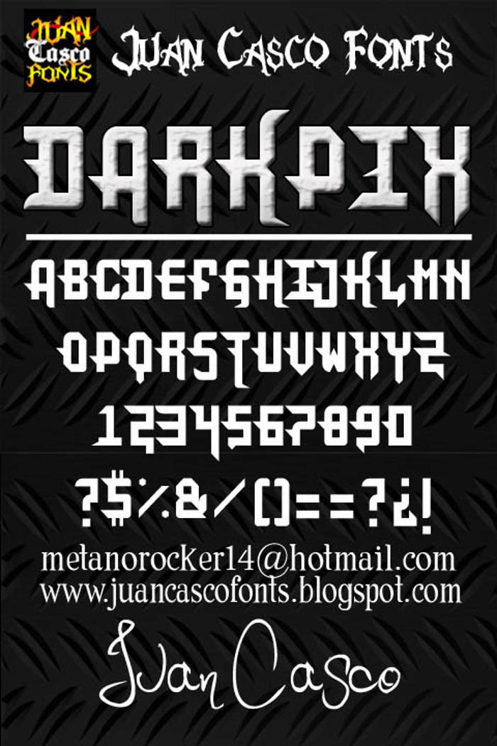 DarkPix Font poster