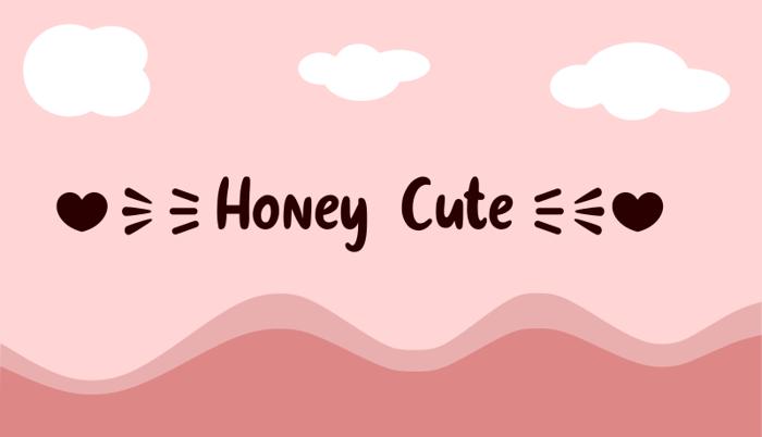 Honey Cute Font poster