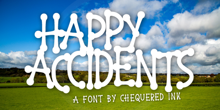 Happy Accidents Font poster
