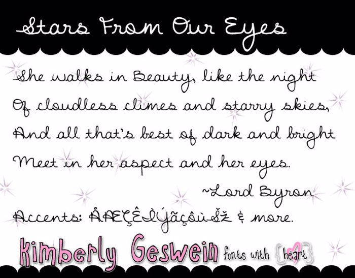 Stars From Our Eyes Font poster