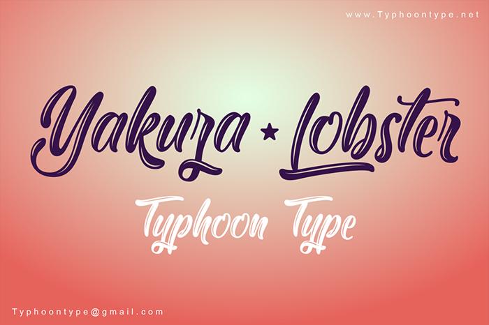 Yakuza Lobster Font poster