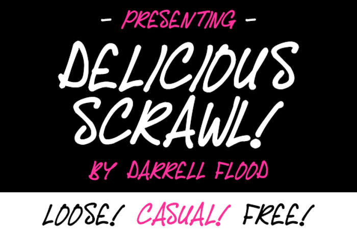 Delicious Scrawl Font poster