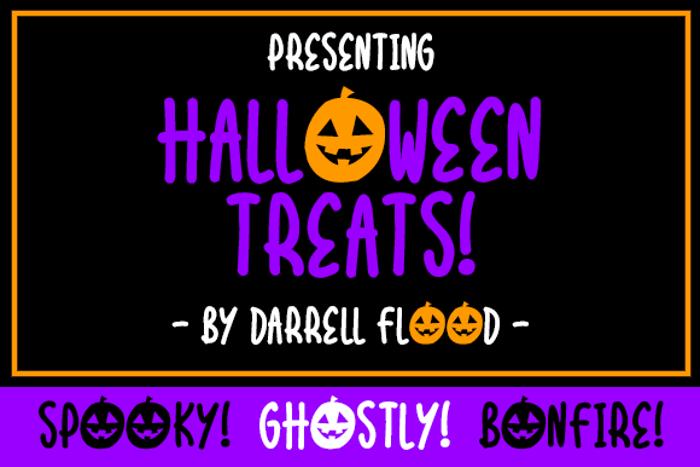 Halloween Treats Font poster
