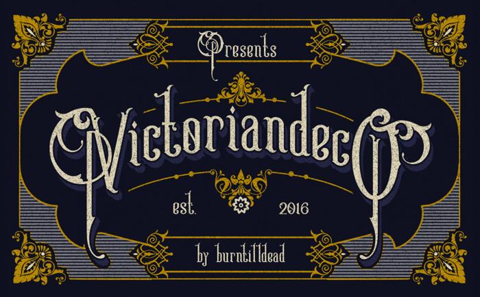 Victoriandeco Font poster