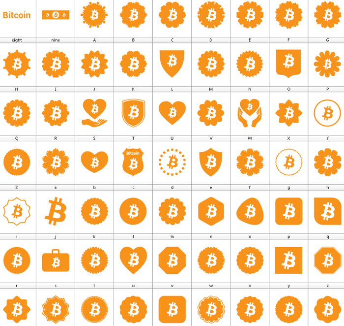 Font Bitcoin Color poster